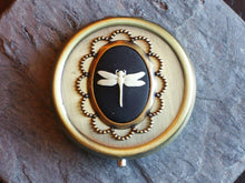 Dragonfly cameo pill box