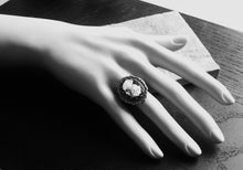 Black cameo ring