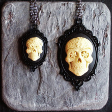 Sugar skull cameo Halloween necklace delicate industry