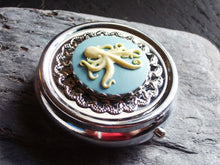 Silver octopus cameo pill box