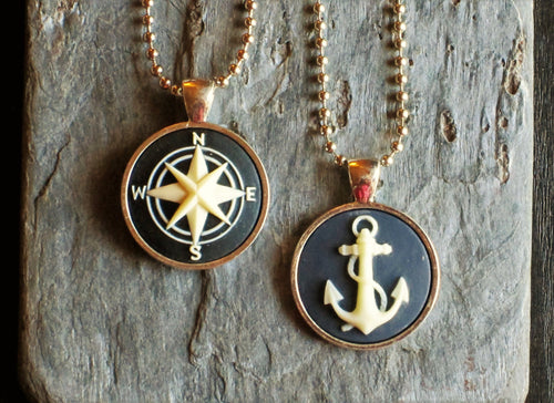 Nautical cameo necklace
