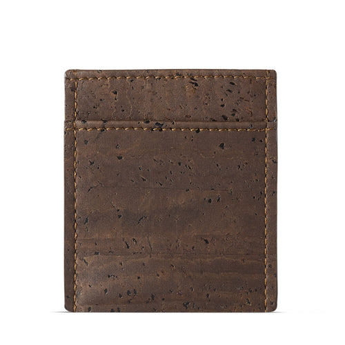 Vegan Minimalist Wallet - Brown