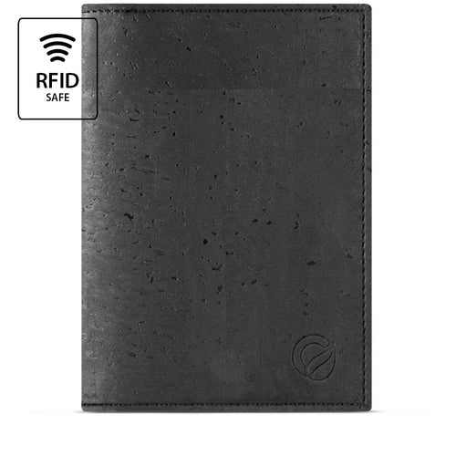 Vegan Passport Wallet - Black