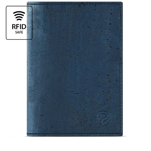 Vegan Passport Wallet - Blue