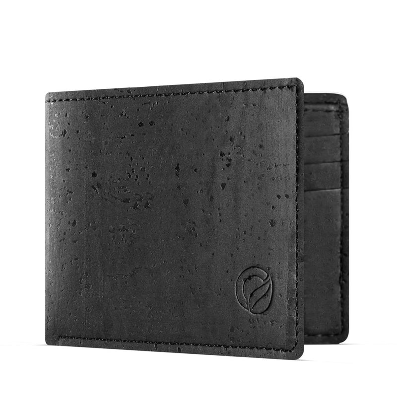Slim Vegan Wallet - Black