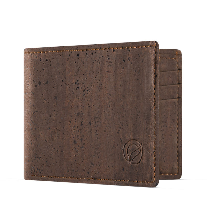 Slim Vegan Wallet - Brown
