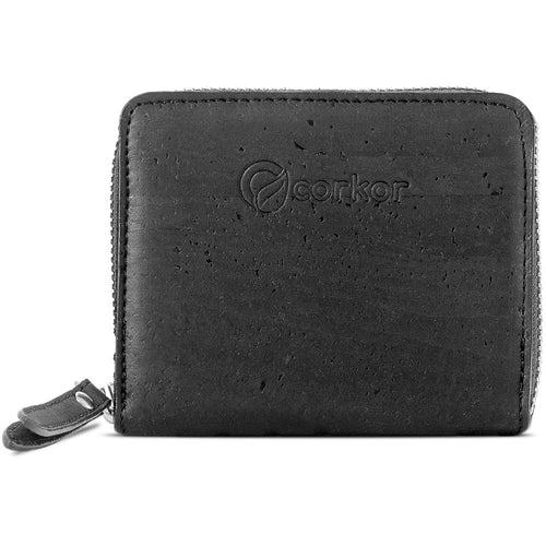 Square Vegan Wallet - Black