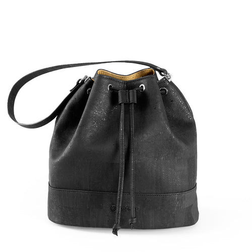 Vegan Bucket Bag - Black