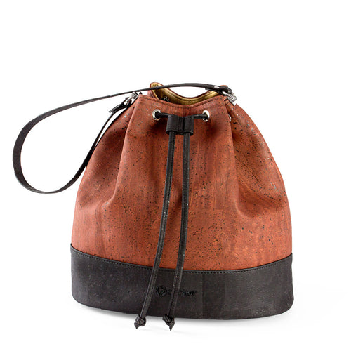 Vegan Bucket Bag - Red