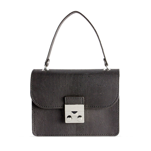 Vegan Mini Crossbody Bag - Black