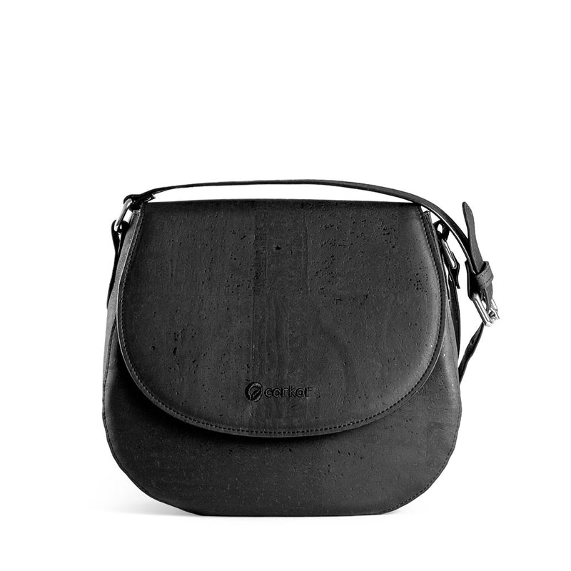 Vegan Saddle Bag - Black