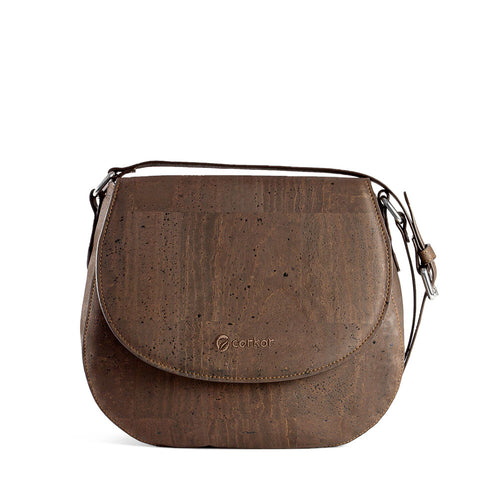 Vegan Saddle Bag - Brown