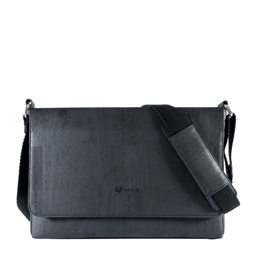 Vegan Messenger Bag - Black