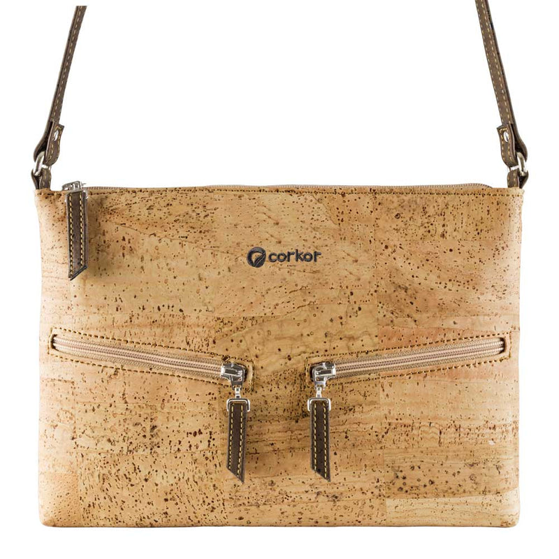 Small Vegan Crossbody Purse - Natural
