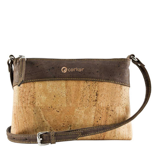 Vegan Crossbody Bag - Brown