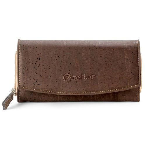 Classic Women's Vegan Wallet - Brown