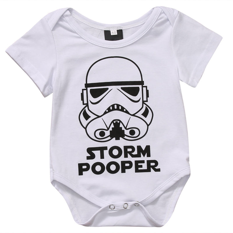 Storm Pooper Short Sleeve Cotton Romper