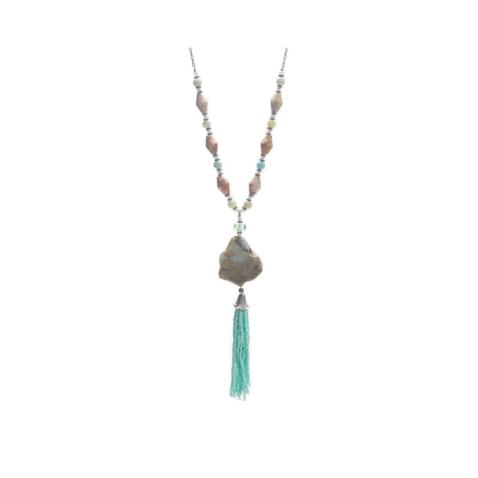 African Opal, Amazonite and Jasper Necklace