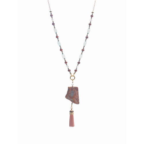 African Opal and Red Jasper Necklace