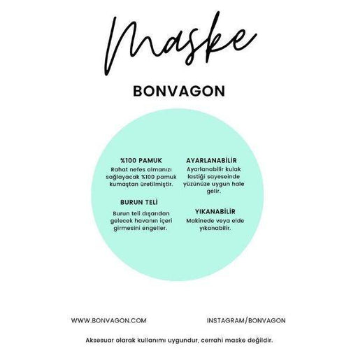 Bonvagon Maske Dark Blue Flowers