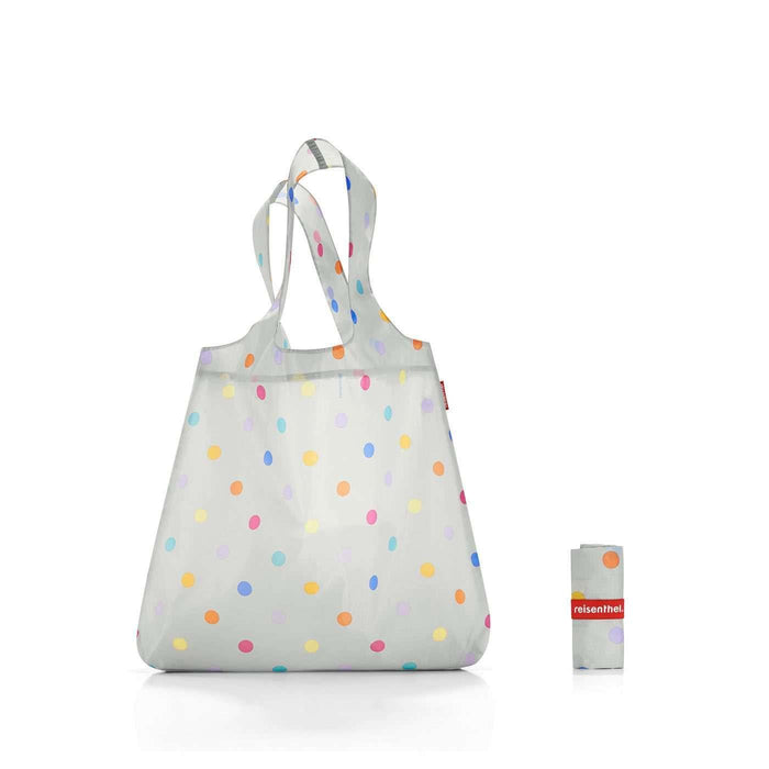 Mini Maxi Shopper Stonegrey Dots Reisenthel