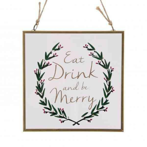 Eat Drink And Be Merry Cam Çerçeve Bonvagon