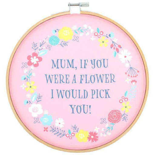 """Mom If You Were a Flower"" Dekoratif Kasnak 20 cm Bonvagon"
