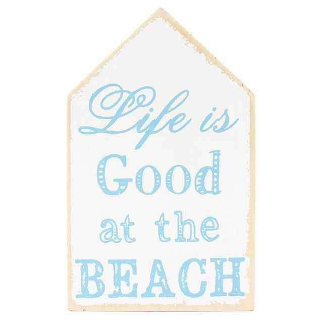 Life is Good at the Beach Ahşap Tabela 18cm
