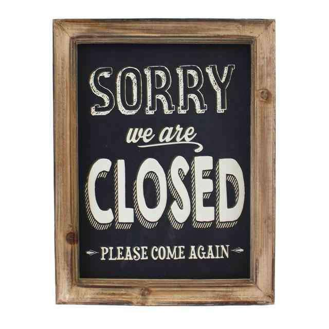 Sorry We Are Closed Tabela