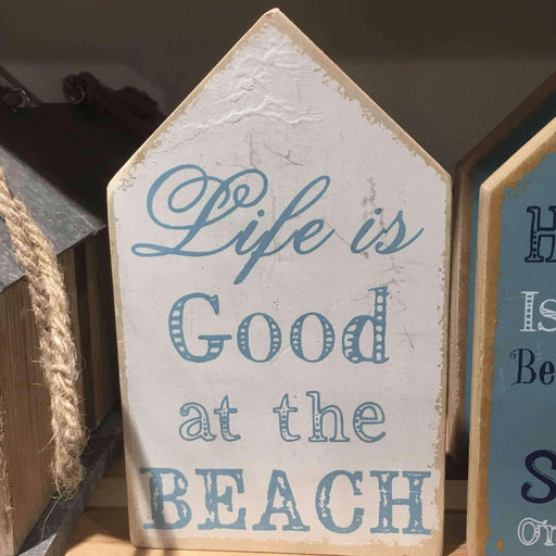 Life is Good at the Beach Ahşap Tabela 18cm Bonvagon