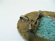 Gabriella Turquoise Convertible Brooch. Vintage Setting. All Midnight Starlet Pieces arrive in a Gift Box with Ribbon.
