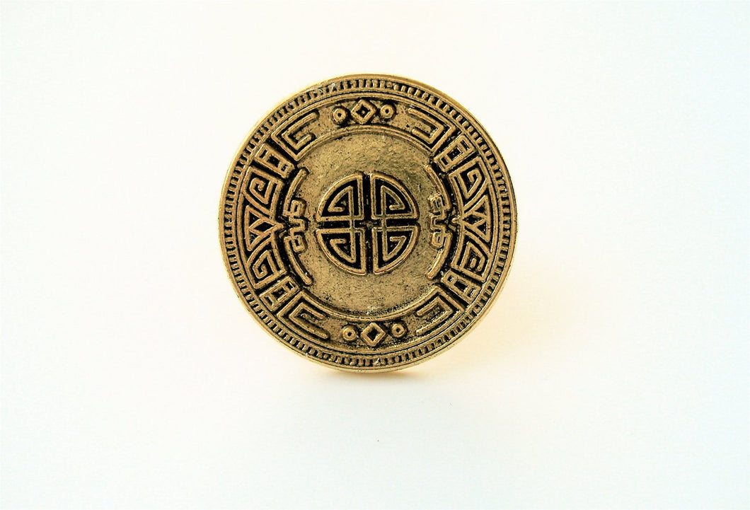 Rustic Mayan Calendar Ring. FAST Shipping w/Tracking for US Buyers. All MS Jewelry will arrive in a Gift Box w/Ribbon.