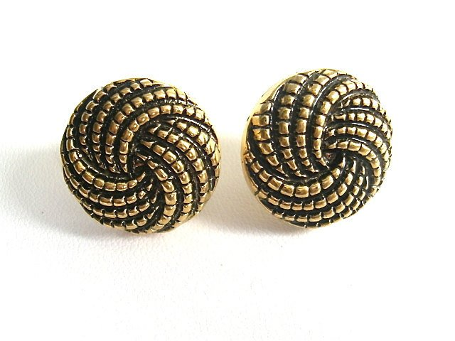 Vintage-Inspired Twisted Rope Stud Earrings. FAST Shipping w/Tracking for US Buyers. Gift Box & Cute Ribbon Included..Ready for Gift Giving.