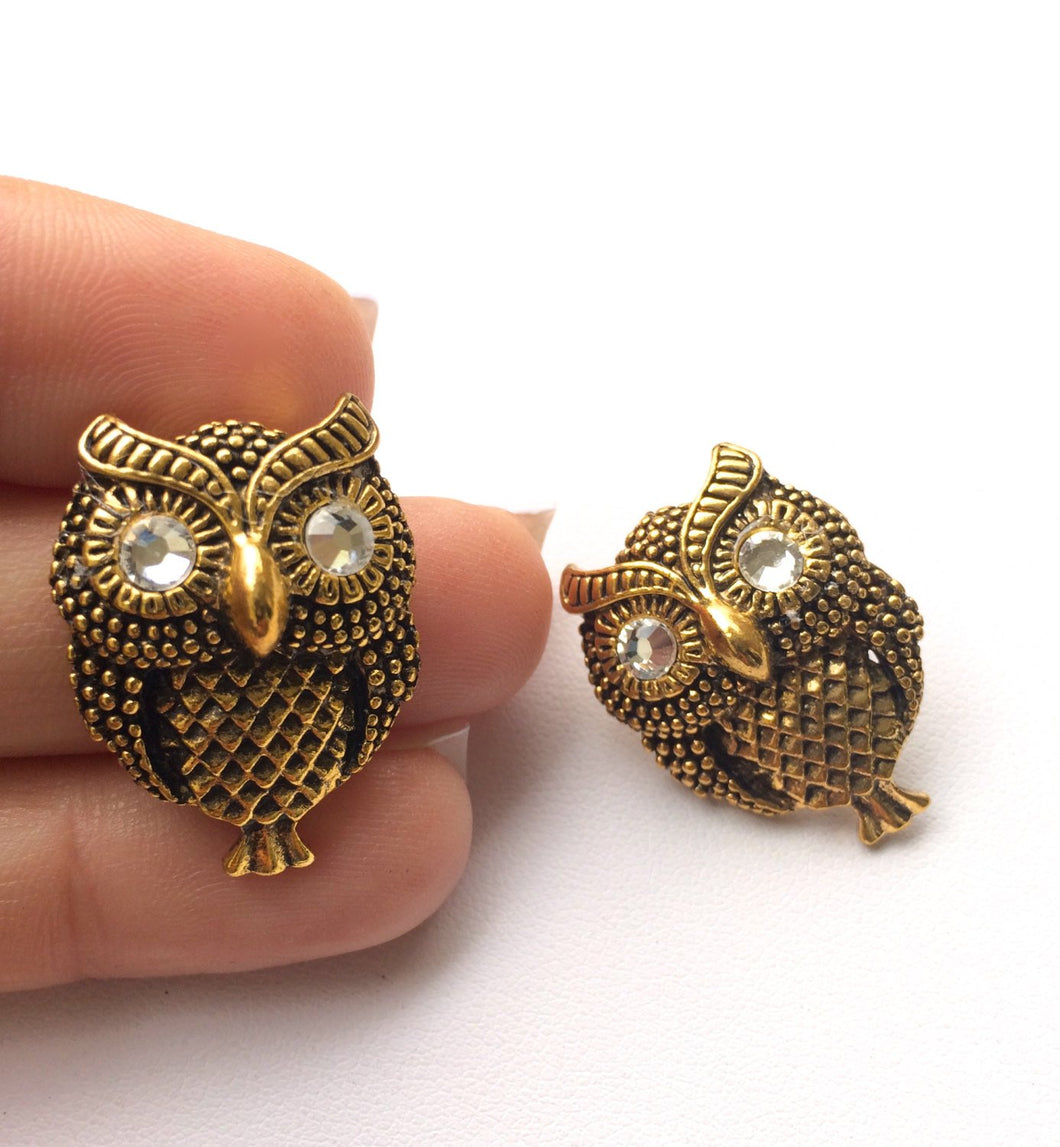 Simon The Owl Earrings. FAST Shipping from USA w/ Tracking 4 Domestic Orders. Incl. Nice Gift Box w/Coordinating Ribbon. The PERFECT Gift.