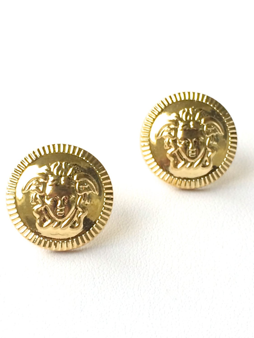 Golden Ethos Medusa Stud Earrings