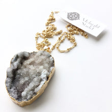 Rosalie Stormy Sky Druzy Necklace