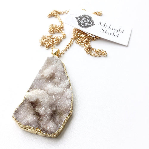 CATHERINE Druzy Necklace