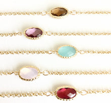 Minimalist Crystal Choker in Warm Gold. You choose Color of Crystal & Length. Fast Shipping w/Tracking for Domestic Orders.