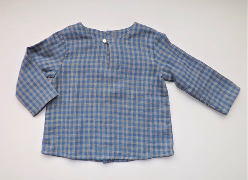Blue Checked Baby Kurta