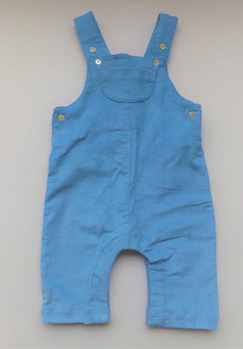 Light Blue Corduroy Dungaree