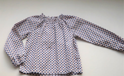 Geometric Flowers Dalila Blouse