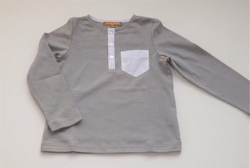 Grey 3buttons tshirt