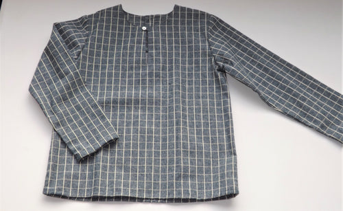 Grey Checked Kurta