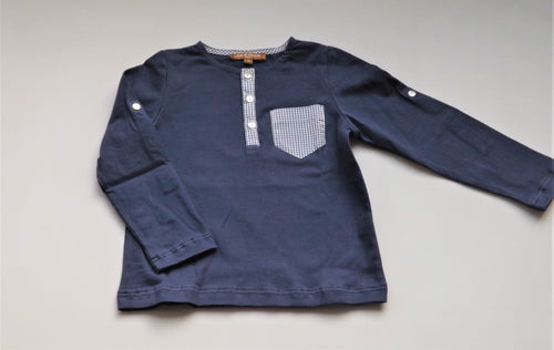Navy 3buttons tshirt
