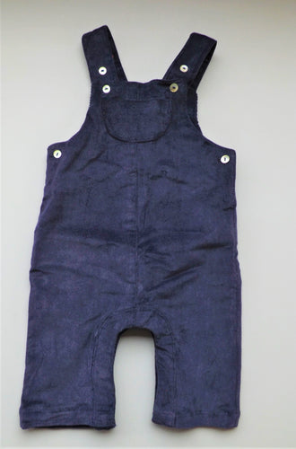 Navy Corduroy Dungaree