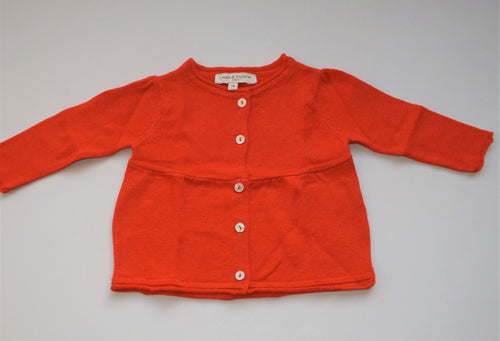 Woolen Orange Baby Cardigan