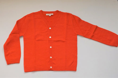 Orange Woolen Cardigan