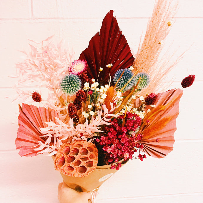 Galentine's Day Dried Flower Bouquet