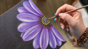 How to paint acrylic flowers on canvas