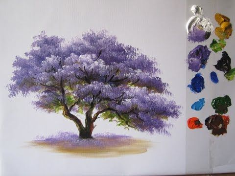How to paint trees acrylic?